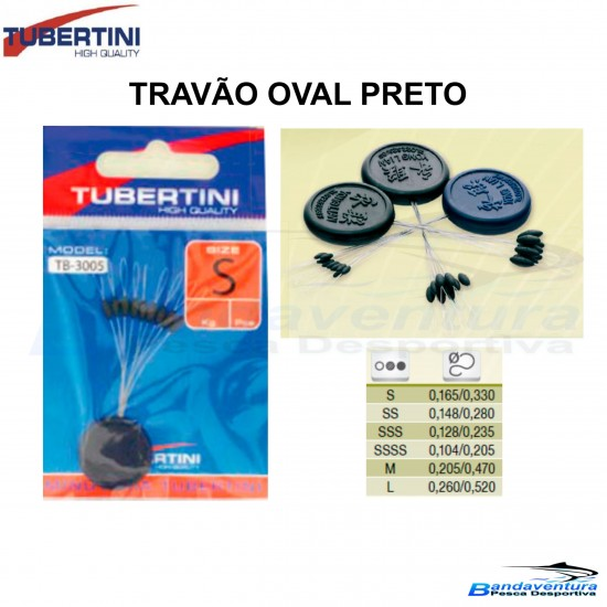 TUBERTINI TRAVÃO OVAL PRETO