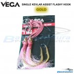 VEGA SINGLE KEVLAR ASSIST FLASHY HOOK
