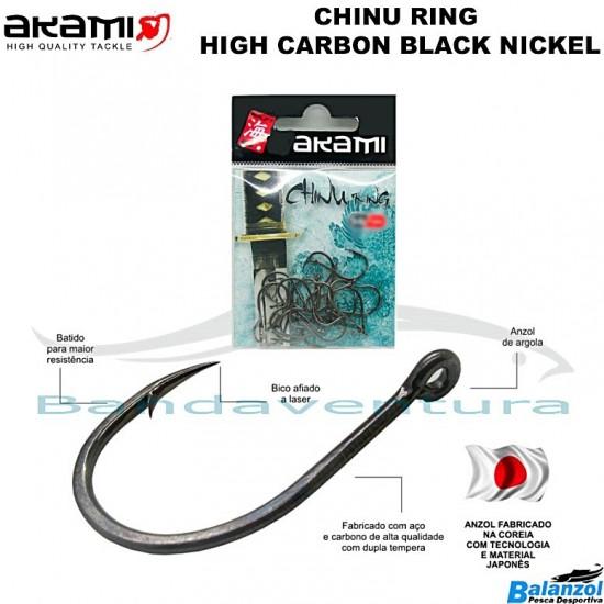 AKAMI CHINU RING HIGH CARBON BLACK NICKEL