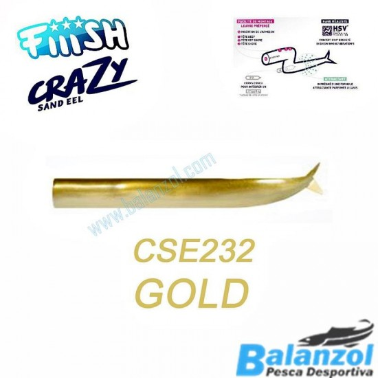 CORPOS FIIISH CRAZY SAND EEL 150 - GOLD