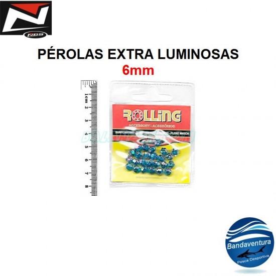 NBS PEROLAS EXTRA BRILHO - AZUL - 6MM